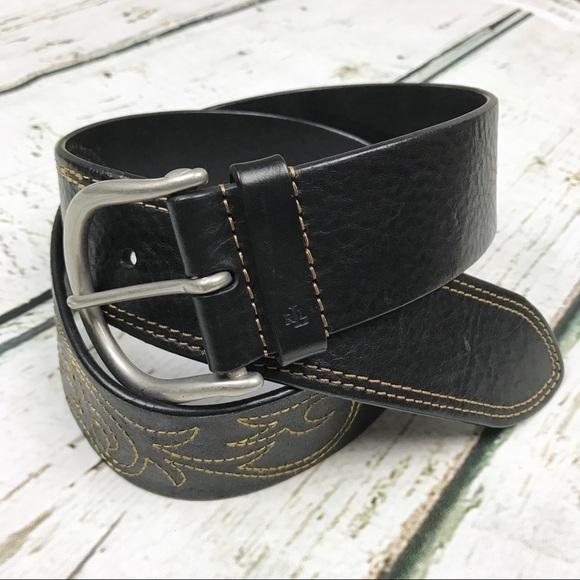 Lauren Ralph Lauren Accessories - Lauren Ralph Lauren Black Italian Leather Belt Lrg